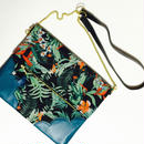 Tropical Flower&Leaf Chain Clutch
