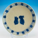 【S025】豆皿(呉須手描き・うさぎ印)