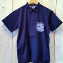 冬のFINAL SALE!【MAGIC NUMBER】Stretch Twill Island Camo Pocket Shirt  color:Navy