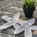 ギフトに最適!ハンドメイド雑貨【umichica】STAR FISH cotton MAT