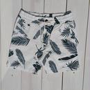 マジックナンバー【MAGIC NUMBER】Canvas Wave Pattern Feather Short Pants   color:White
