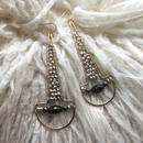 Pyrite scoop earring
