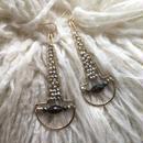 Pyrite scoop earring