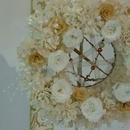 母の日ギフト!!白の華やかリース プリザーブドフラワー
