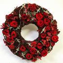 豪華!真っ赤の華やかプリザーブドフラワーリース