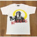 RARETE (ラルテ)  チンパンジー 拳銃 Tシャツ  Tシャツ 星柄 star
