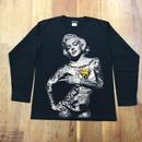 RARETE (ラルテ)マリリンモンロー ファックポーズ  ブラック  長袖Tシャツ