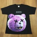RARETE (ラルテ)   テディベア  パープル  ロゴ  Tシャツ  ブラック 星柄 star