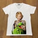 RARETE (ラルテ)  マリリンモンロー Frog Tシャツ ホワイト 星柄 star(Vネック)