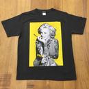 RARETE (ラルテ)  マリリンモンロー Tatto  イエロー Tシャツ ブラック (ピグメント加工)