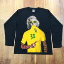 RARETE (ラルテ) マリリンモンロー トラ ブラジル ブラック  長袖Tシャツ