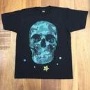 RARETE (ラルテ)   ドクロ スカル 迷彩 ブルー Tシャツ  ブラック  星柄 star