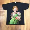 RARETE (ラルテ)   マリリンモンロー  Frog  Tシャツ  ブラック  Tシャツ 星柄 star