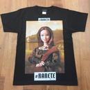 RARETE (ラルテ)    モナリザ 人形 Tシャツ  ブラック   星柄 star