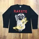 RARETE (ラルテ)  DOG イナズマ 犬 Pag パグ ファック ブラック  長袖Tシャツ
