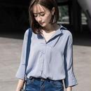 七分袖シフォンとろみシャツ
