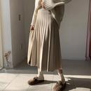 ニットプリーツウールスカート