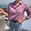 薄手リネンシャツ