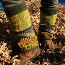 豆 Beans Leg warmer 手編み ニット