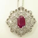 【11/10掲載】ルビー1.519ct ダイヤモンドペンダント