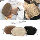 羊毛ミニチェーンクロスバッグ