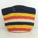 marbleSUD(マーブルシュッド) CUT CLOTHES Crochet  BAG NAVY 087M030127