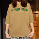 marbleSUD(マーブルシュッド)MATTER HORN 3/4SLEEVE TEE BEIGE 015S003109