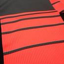 朱音屋オリジナル帯揚 barrystripe  赤×黒