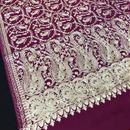 カシミール刺繍ウールストール