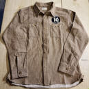 REW10 HEAVY FLANNEL SHIRTS GRAINED BROWN
