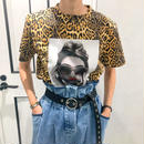 leopard × photo tshirt
