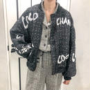 tweed over size blouson
