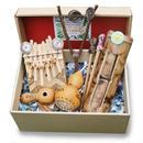 ポンぴ〜シャカ手作り自然楽器5点セット