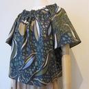 KOYUKI print blouse khaki