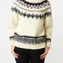 COOHEM CANADIAN KNIT PULLOVER white