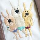 裸3兄弟☆(刺繍作品)