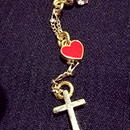 Loveli cross ピアス