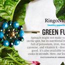 Flower Glass Beads Pin