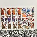 猫 ねこ キラキラ シール 4枚セット sticker cat