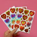 財 キラキラ シール 3枚セット sticker