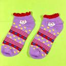 うさぎ 靴下 紫 ソックス かわいい RABBIT PURPLE SOCKS