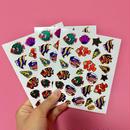 魚 キラキラ シール 3枚セット sticker fish