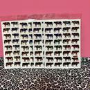 牛 キラキラ シール 4枚セット ステッカー cow  sticker
