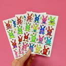 ウサギ 兎 キラキラ シール 3枚セット RABBIT STICKER