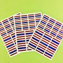タイ 国旗 キラキラ シール 3枚セット Thailand Flag stickers