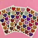 ハート キラキラ シール 3枚セット heart sticker