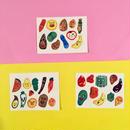野菜シール ステッカー 3枚セット ベジタブル vegetable sticker  ①