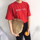 BABY GIRL 赤 Tシャツ