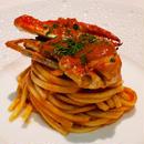 渡り蟹のトマトソース&キタッラ
