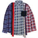 "REBUILD BY NEEDLES(リビルドバイニードルス)""7 Cuts Flannel Shirt - Inserted 4 Cluths"" sizeM"